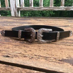 Accessories - Western Double Buckle Belt